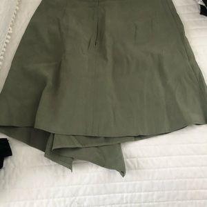 BCBG Dustyolive (Olive Green) Mini Skirt Size 0